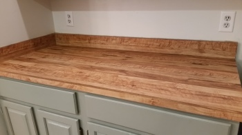 counter cleaned and sanded